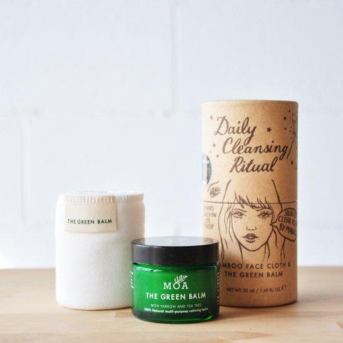 Kit de limpieza facial 50ml bálsamo+Paño de bambú orgánico MOA
